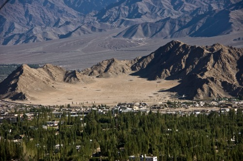 Leh Golf Course as seen from Shanti Stupa