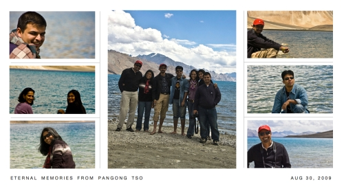 The privileged ones in Pangong - Vivek, Shubra, Shahana, Sunitha, Shrinath, Jayanth & Vijay