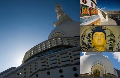 Different Views of the Shanti Stupa
