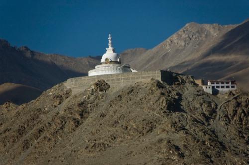 Shanti Stupa atop the Changspa hilltop