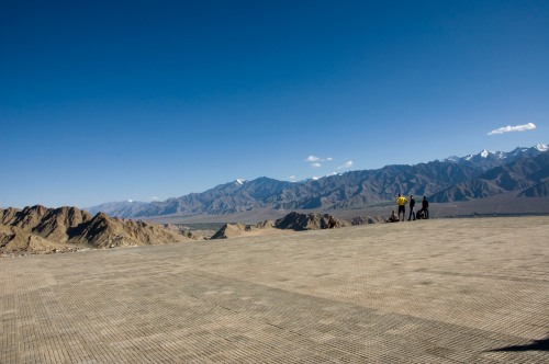 The ledge offers stunning views of Leh!