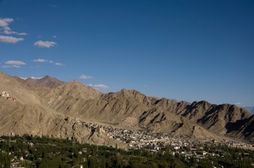 Closer View of Leh - Note the Leh Palace on the Left of picture