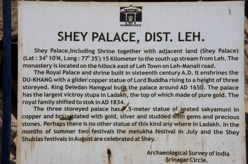 Shey Palace Description