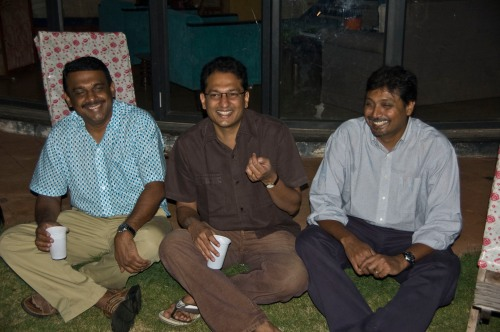 Muthu, Cyril, Vijay - enjoying a laugh