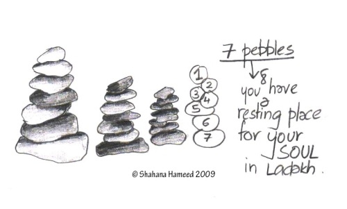 pebble stacks